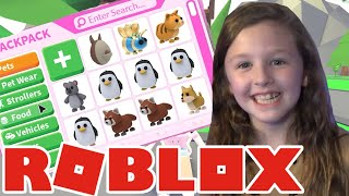 Roblox Adopt Me Inventory Tour  with Fun Family Gaming Ava Isla Olivia and FFGamingDAD