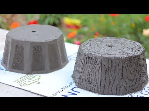 Casting cement pots