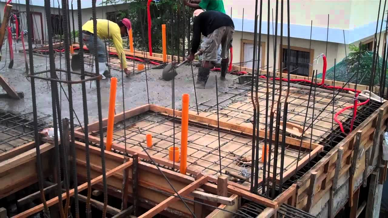 Villa caceres march 30 2012 2nd floor concrete pouring for How to build a 2nd story floor
