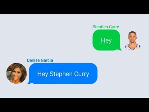 Stephen Curry Texting Lonzo Ball's Girlfriend (Denise Garcia)