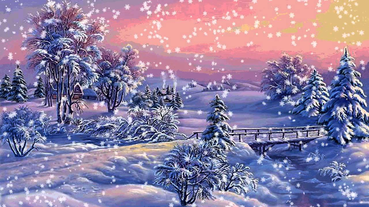 Картинка снег анимашка