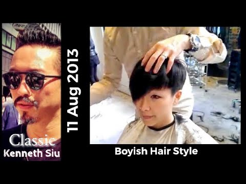 Kenneth Siu's Haircut - Pretty Girl wants it short