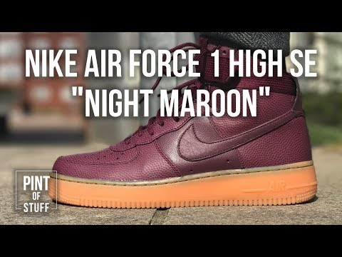 size 40 5f38d eac84 The Best Outlet Pick Up Yet | Nike Air Force 1 High SE 'Night Maroon'  Unboxing with SJ - YouTube