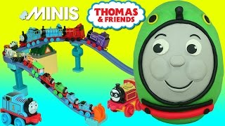 Giant Play Doh Surprise Egg Percy the Small Engine Thomas & Friends Minis Blind Bags