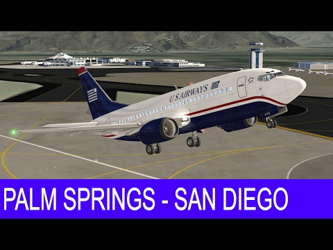 Aerofly 2 Flight Simulator - US Airways 737-500 - Palm Springs to San-Diego [Extreme Graphics]