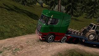 Truck Driving On Complicated Road ( Euro Truck Simulator 2 ) Episode #1