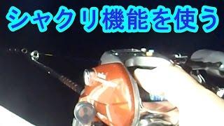 【船イカ釣り動画】マイカの釣り方 電動リールのシャクリ機能を使う