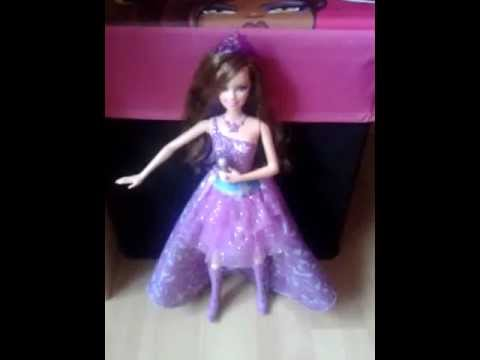 My Barbie the Princess and the Popstar Keira Doll is singing