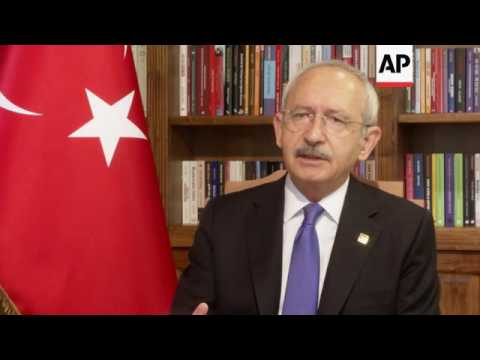 "Turkish opposition leader warns of ""witch-hunt"""