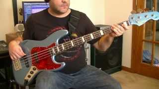 Foo Fighters - Let It Die Bass Cover w/Squier James Johnston Jazz Bass