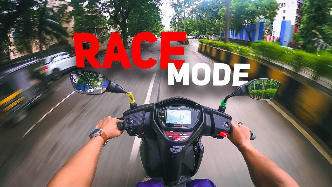 2021 TVS Ntorq 125 Race XP Edition   Ride Review   Race Mode   Top Speed   Lokesh Pimple