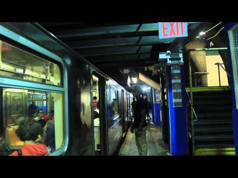 IRT Subway: South Ferry Bound R62A (1) Train at W. 168th Street