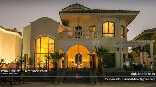 Palm Jumeirah Palm Sunset Point - 4 Bedroom Villa for Rent in Dubai