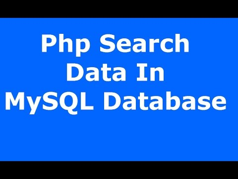 Php : How To Search And Display Data From MySQL...