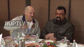 Belarus: Steven Seagal pays President Lukashenko a visit