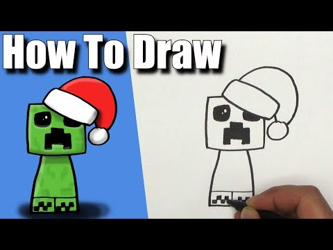 How To Draw a Christmas Creeper! - EASY - Step By Step