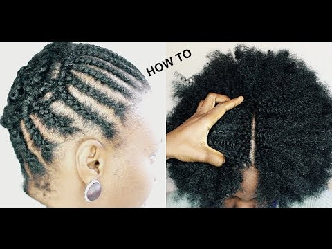 HOW TO DO NATURAL LOOKING CROCHET BRAIDS ONLY 1 HOUR