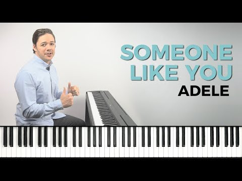 How to play 'SOMEONE LIKE YOU' by Adele on the piano -- Playground Sessions