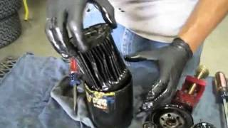 Cutting an oil filter with PROFORM's Universal Filter Cutter
