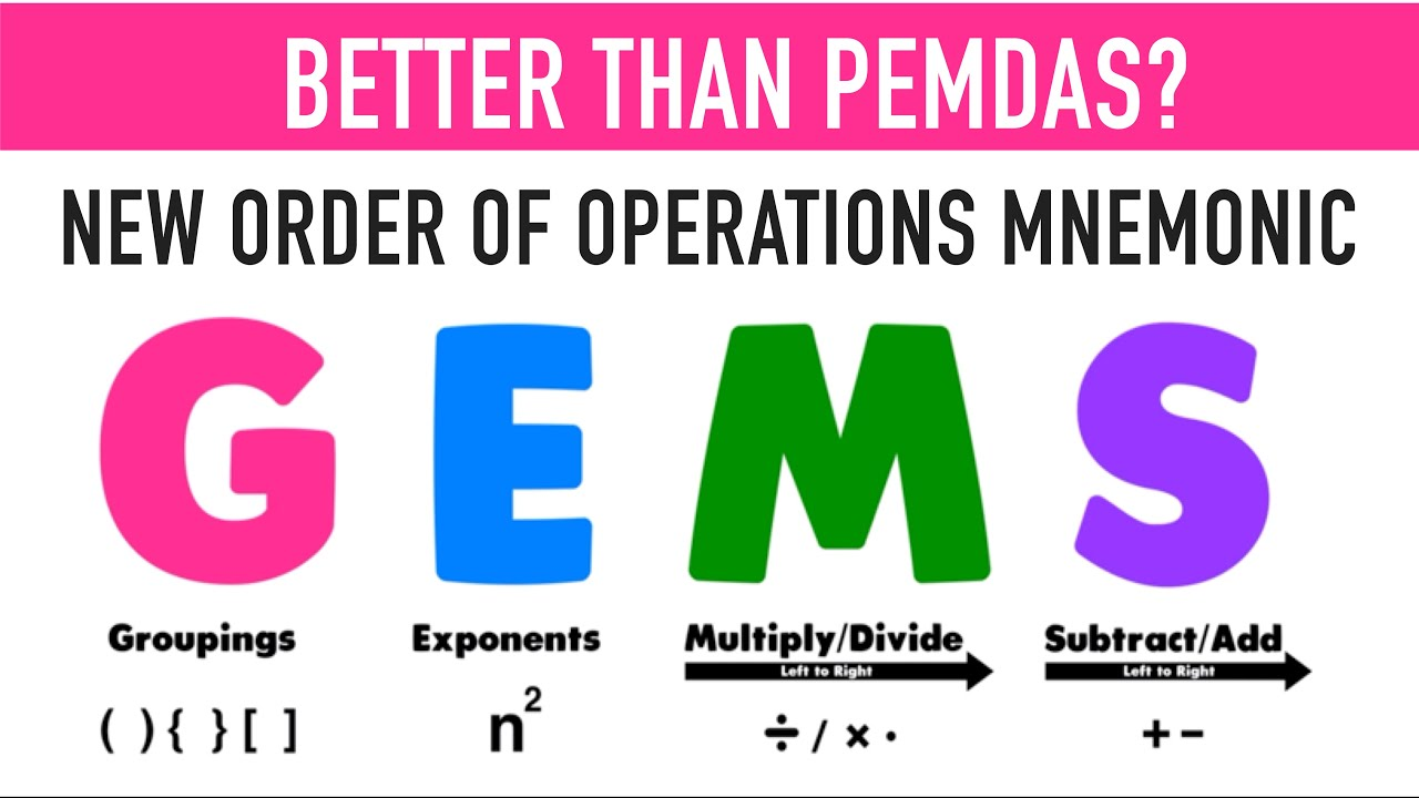 Why GEMS is the Best Way to Teach Order of Operations! - YouTube
