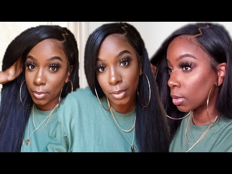 sleek-&-trendy-🔥-old-school-zig-zag-part-on-very-afffordable-lace-front-wig- -beauty-forever-hair