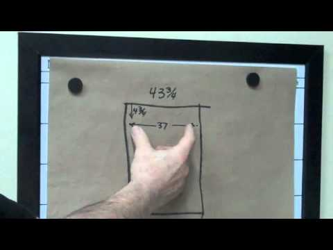 How to Hang a Picture Frame with 2 Hooks and NO WIRE. - YouTube