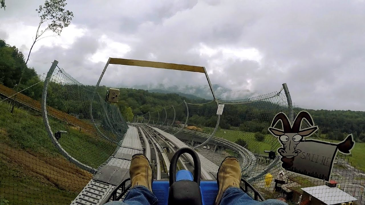 Coaster At Goats On The Roof On Ride Hd Pov 60fps Youtube