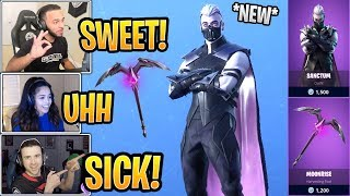 Streamers React to *NEW* Sanctum Skin and Moonrise Pickaxe! - Fortnite Best and Funny Moments