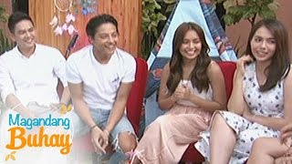 magandang buhay kathniel together with their growing up barkada play a guessing game