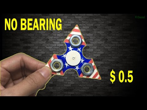 DIY Fidget Spinner WITHOUT BEARINGS!! Using common household items! EASY