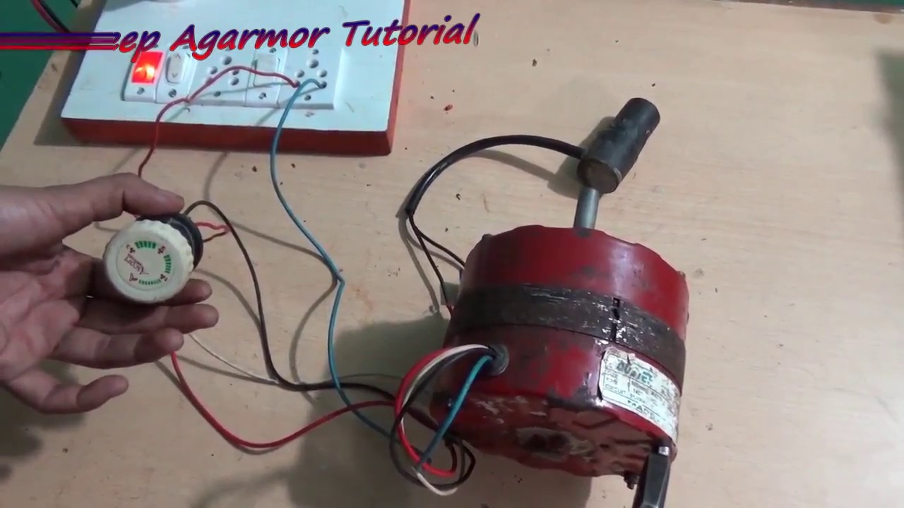 Multi Speed Cooler Motor Connection With Switch Youtube Guitar Phase Wiring Diagram