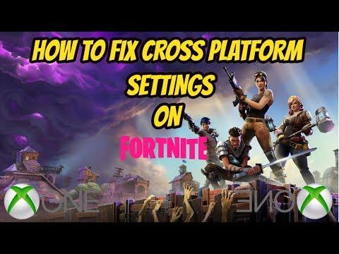 How To Fix Cross Platform Settings On Fortnite (XBOX)