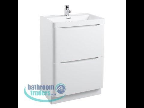 Bali 600mm 2 Drawer Vanity Unit Including Basin - BathroomTraders