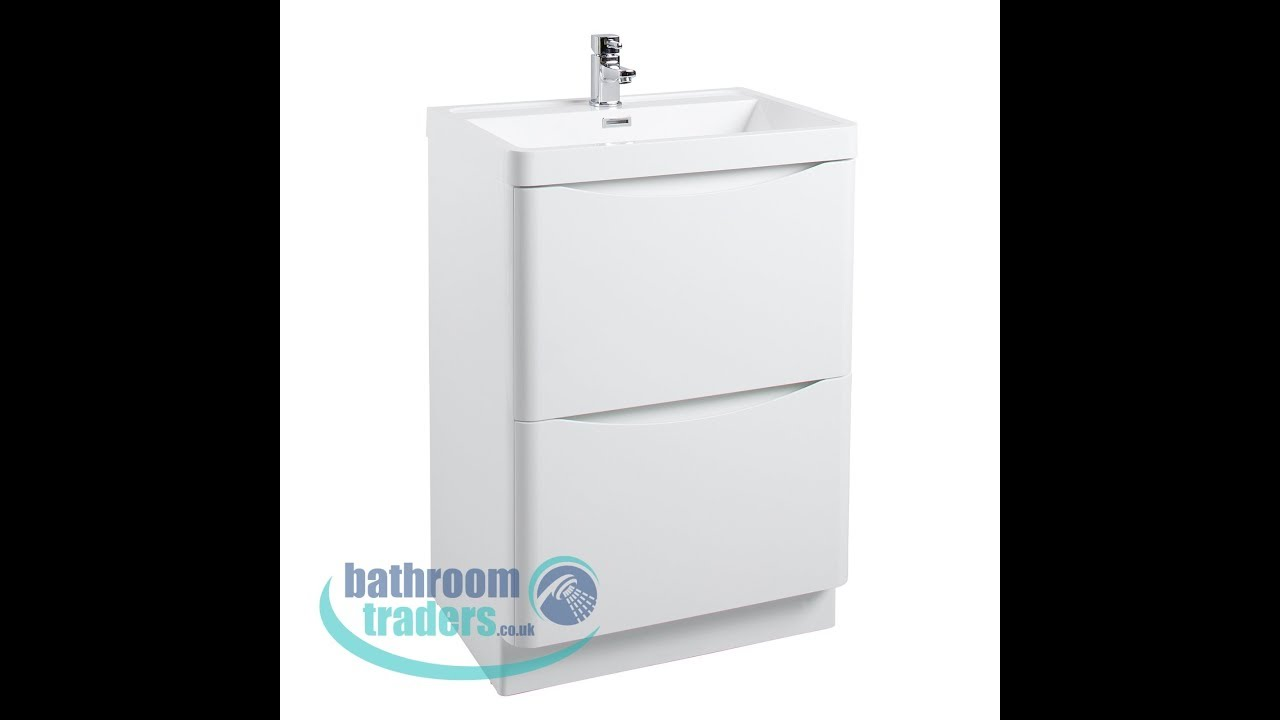 Bali 600mm 2 Drawer Vanity Unit Including Basin Bathroomtraders Bathroom Traders
