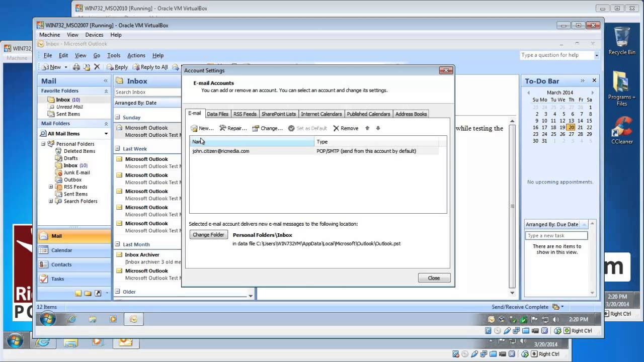Setup Outlook to access Hotmail via POP3 - YouTube