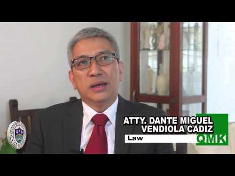 Atty. Dante Miguel V. Cadiz - LAW