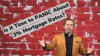 Is it Time to Panic about 3% Mortgage Rates?