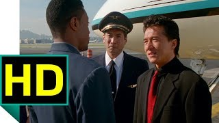 Картер встречает Ли в аэропорту. Час Пик