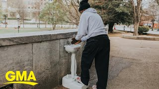 The homeless in Atlanta can stay clean thanks to these portable sinks