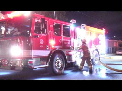 LAFD   KNOCKDOWN ON A MID-CITY APARTMENT FIRE