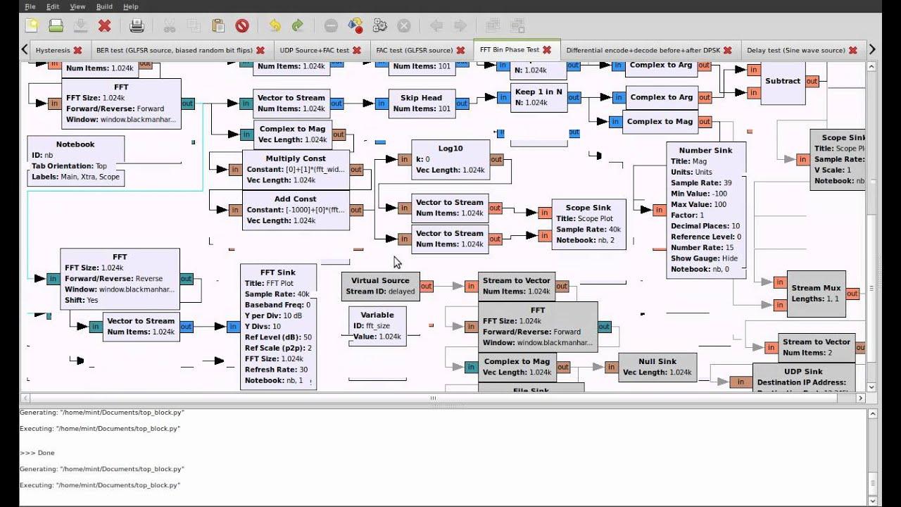 GNU Radio Tutorials: Part 5 - FFT, Phase calculation, Vectors & GNU Plot