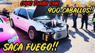 HONDA CIVIC SACA FUEGO EN EVENTO TUNING!! JDM TUNING CAR SHOW