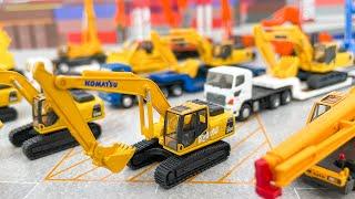 「ニッポンの建設機械」ショベルカー、クレーン車、重トレーラーの建機シリーズvol. 1。工事現場のミニチュア、ジオラマ制作に最適!ケンクラフトさん企画協力の精巧なディテールです!