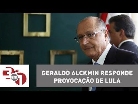 Geraldo Alckmin responde provocação de Lula e diz que o ex-presidente está com ''medinho''