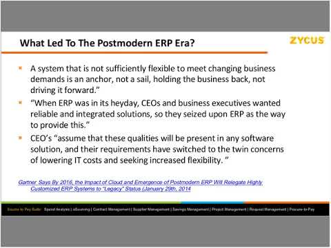 The Rise of Postmodern ERP & its Impact on Procurement