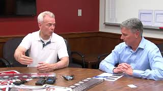 Steve Russell talks tariffs with local company