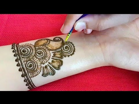 Simple Mehndi Designs For Front Hands Arabic Style