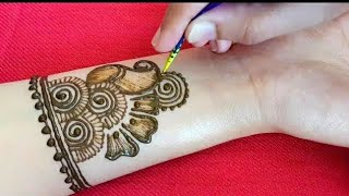 Very pretty mehndi design for front hands #4||simple mehandi designs ||मेहँदी डिजाईन ||mehendi