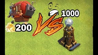 Max battle blimp vs max hidden Tesla clash of clans | coc private server