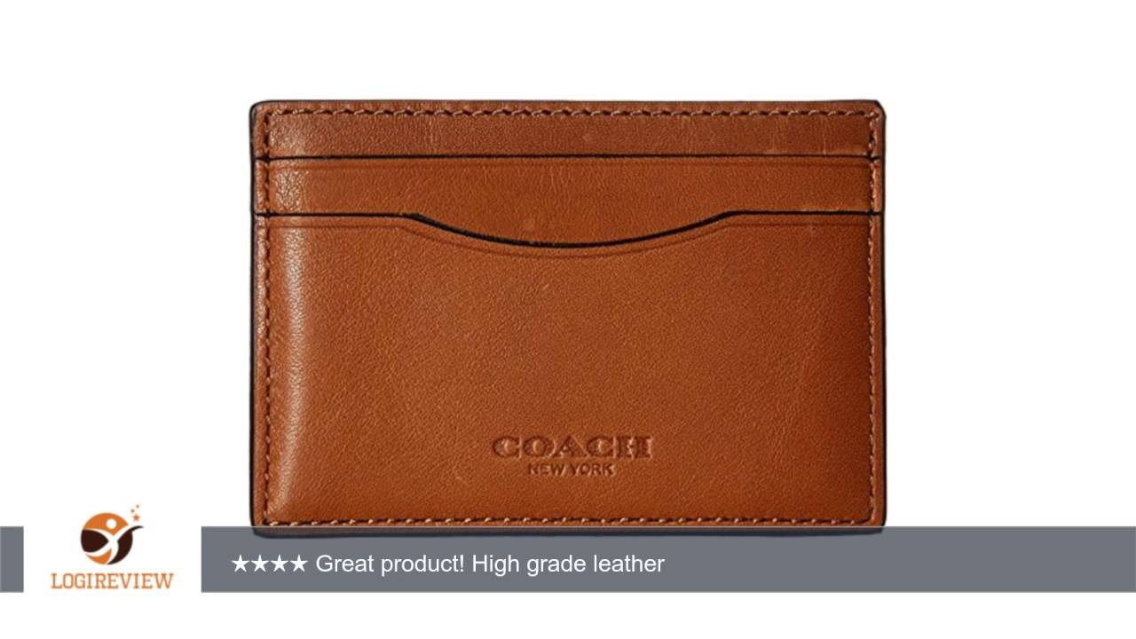 newest collection f0b75 9655c COACH Men's Sport Calf Card Case | Review/Test